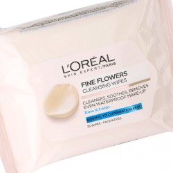 L'Oreal Fine Flowers - Cleansing wipes for normal to combination skin